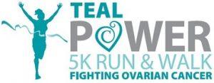 Teal Power 5K Logo